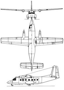 Plan 3 vues du Nord N.260 Super Broussard