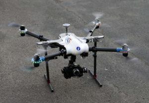 Remarquez le logo de la police belge sur ce drone.