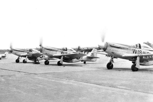 general mitchell airport milwaukee P-51