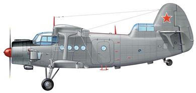 Profil couleur du Antonov An-6 'Meteo'