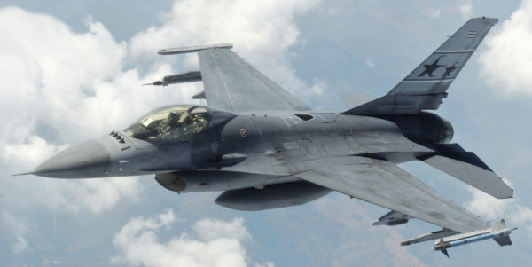 General Dynamics F-16A Fighting Falcon.