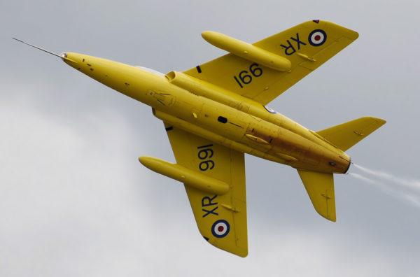 Folland Gnat restauré aux couleurs des Yellow Jack.