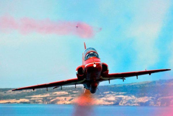 Le BAe Hawk, la monture des Red Arrows depuis... 1979.