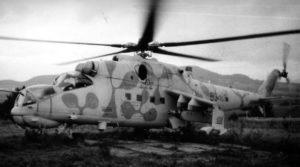 Une des rares photos d'un Mi-24RKhR.
