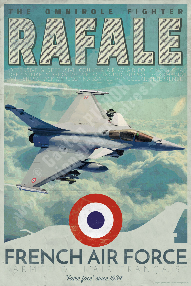 poster rafale french air force. Black Bedroom Furniture Sets. Home Design Ideas
