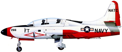 Profil couleur du Lockheed T2V / T-1A Seastar