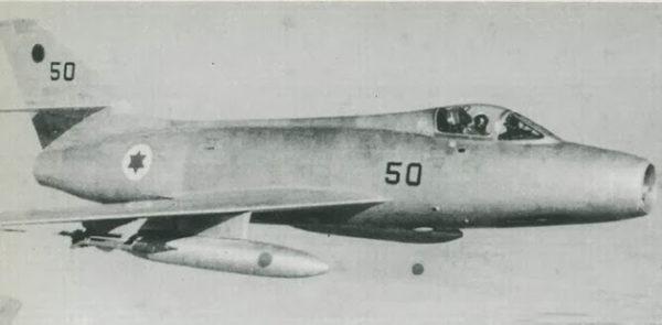En juin 1967 le Mystère IV-A était un des principaux chasseurs israéliens.
