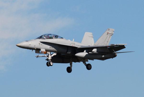 MDD FA-18D Hornet.Finlande_Wikimédia