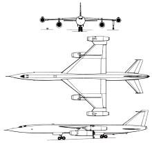 Plan 3 vues du Myasishchev M-50 'Bounder'