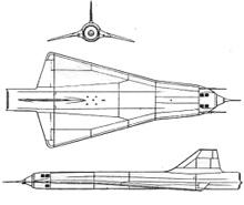 Plan 3 vues du Lockheed D-21