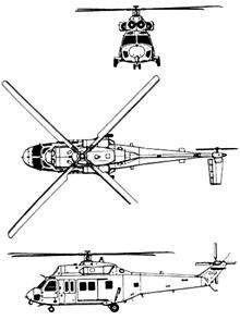 Plan 3 vues du KAI KUH-1 Surion