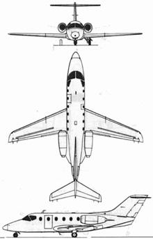 Plan 3 vues du Beechcraft T-1 Jayhawk