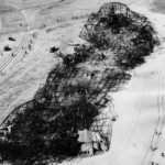 La carcasse calcinée du Hindenburg.