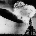 L'embrasement du dirigeable Hindenburg, première grande catastrophe aérienne