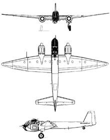 Plan 3 vues du Junkers Ju 188