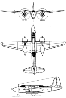 Plan 3 vues du Douglas P-70 Nighthawk / Moonfighter
