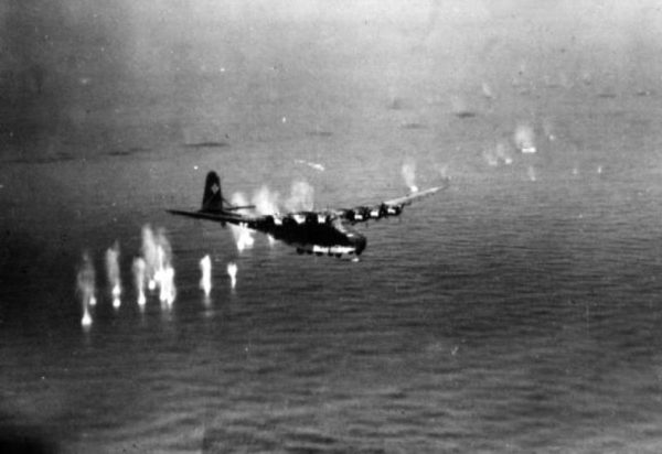 USS Corsica Me_323_under_attack_off_Corsica_1943