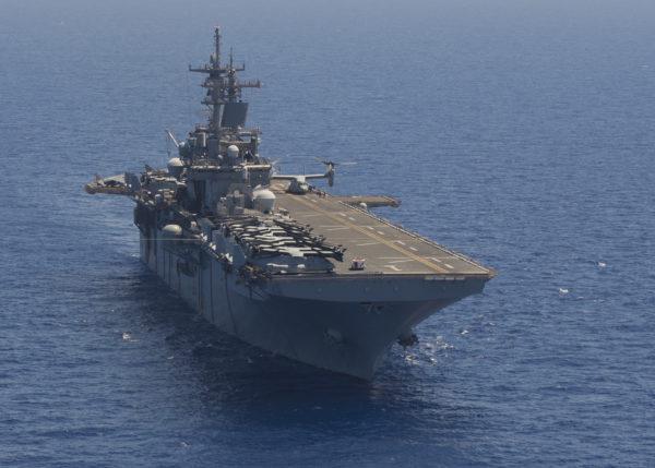 L'USS Wasp en Méditerranée.