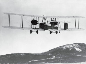 Vickers-Vimy-with-Alcock-and-Brown-aboard-departs-St.-Johns-newfoundland-14-June-1919-CF-Photo