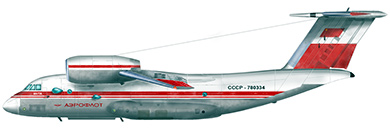 Profil couleur du Antonov An-72 / An-74 'Coaler'
