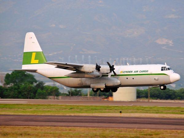 Lockheed L-100 appartenant à la compagnie américaine Lynden Air Cargo.