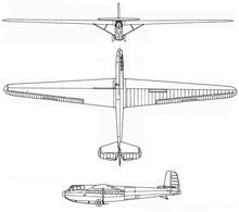 Plan 3 vues du DFS 230