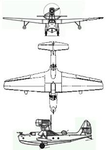 Plan 3 vues du Beriev MBR-2 'Mote'