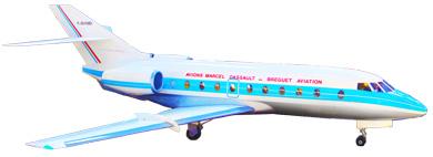 Profil couleur du Dassault Falcon 30