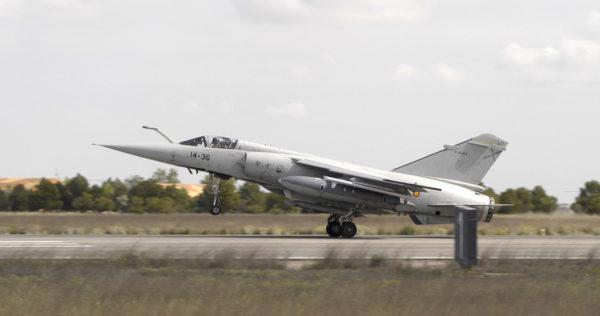 Mirage F1-EE dans l'ultime livrée portée par les avions espagnols.