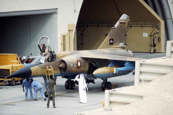 Mirage F1-EDA qatari juste avant sa mission.
