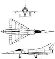 Plan 3 vues du I.A.I. Nesher / Dagger