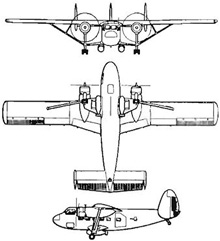 Plan 3 vues du Scottish Aviation Twin Pioneer
