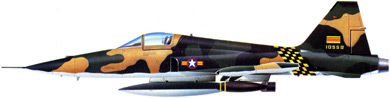 Profil couleur du Northrop F-5 Freedom Fighter