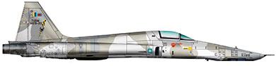 Profil couleur du Northrop RF-5 Tigereye