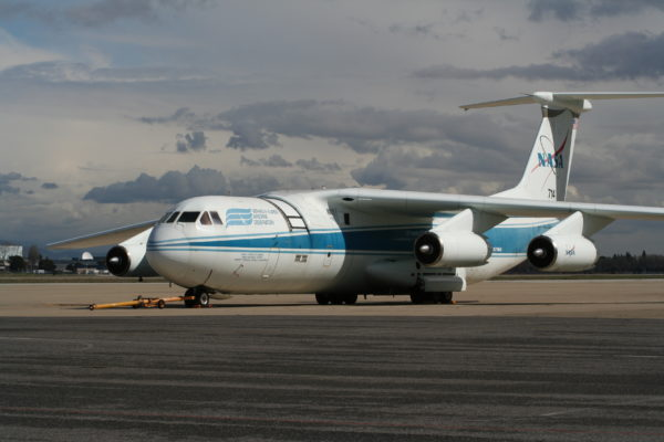 Le seul et unique Lockheed L-300, ici dans la livrée de la NASA.