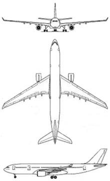 Plan 3 vues du Airbus Military A330 'Cotam Unité'