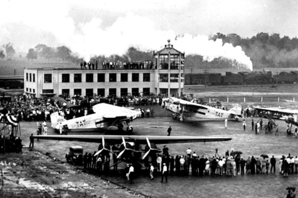 PORT COLUMBUS 1929 DEDICATION TAT PLANES