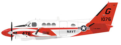 Profil couleur du Beechcraft U-21 Ute / T-44 Pegasus