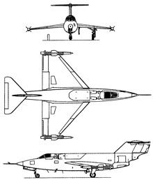 Plan 3 vues du Saunders-Roe SR.53
