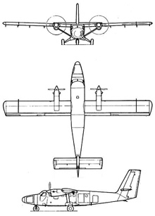 Plan 3 vues du Viking Twin Otter 400 / Guardian 400