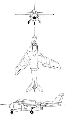 Plan 3 vues du Bell X-5