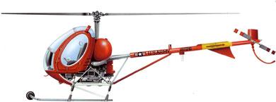Profil couleur du Hughes TH-55 Osage