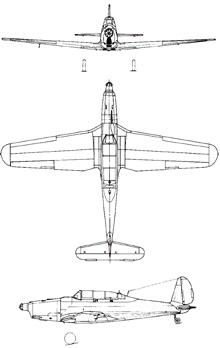 Plan 3 vues du Arado Ar 96