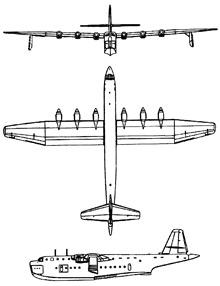 Plan 3 vues du Blohm und Voss Bv 238