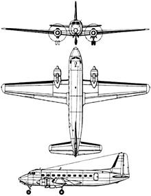 Plan 3 vues du Casa C-207 Azor