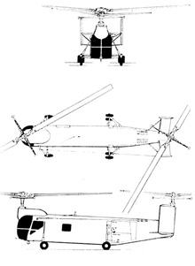 Plan 3 vues du Bell HSL Sea Lion