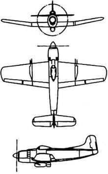 Plan 3 vues du Martin AM Mauler