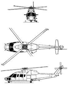Plan 3 vues du Sikorsky H-76 Eagle