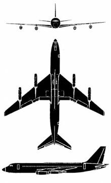 Plan 3 vues du Convair UC-880 Skylark