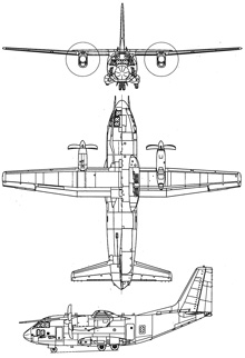 Plan 3 vues du Alenia C-27J Spartan II
